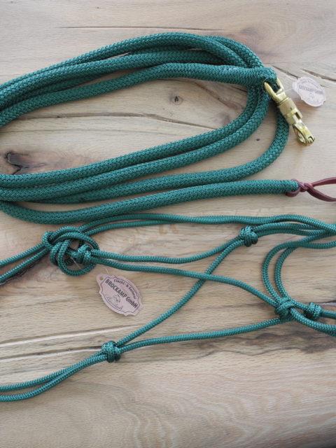 Brockamp Halfter und Rope in grün